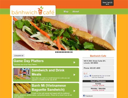 Banhwich Cafe Website