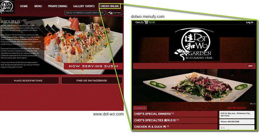 Dot Wo Online Ordering Website