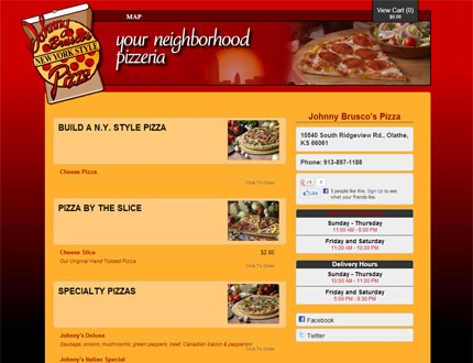 Johnny Brusco's Pizza Website