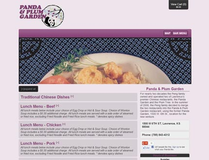 Panda and Plum Garden Website